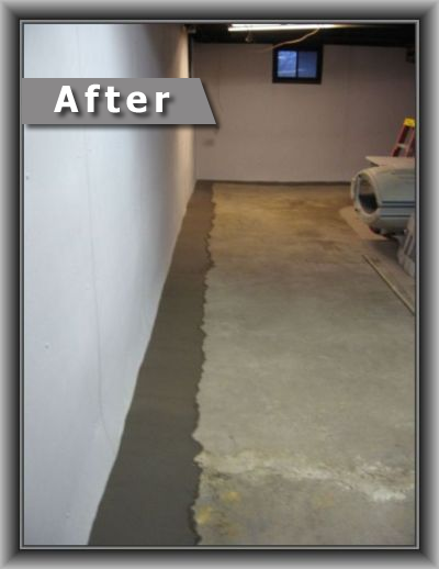 Basement and crawspace waterproofing after