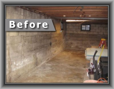 Basement and crawspace waterproofing before